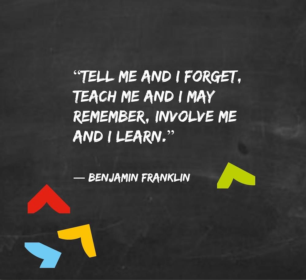 leren quote benjamin franklin springest